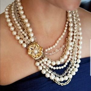 "Stella & Dot ""Charlotte"" Pearl Statement Necklace"